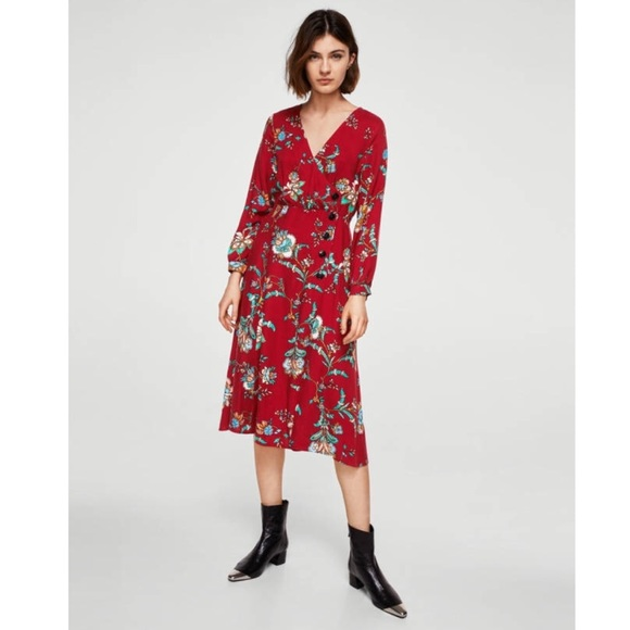 5a2240cd3 Mango Dresses | Floral Midi Dress | Poshmark
